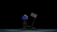 The first sighting of the Blue Big Paint Star in Paper Mario: Color Splash