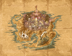 Map of the 3rd continent from Wario Land: Shake It!