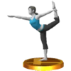 Wii Fit Trainer's trophy, from Super Smash Bros. for Nintendo 3DS.