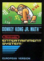 The boxart of Donkey Kong Jr. Math
