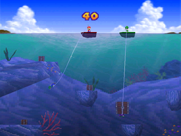 The minigame Deep Sea Divers.