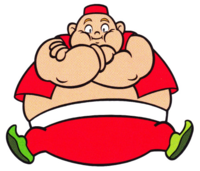 Artwork of Genie (Wario Land: Super Mario Land 3) from the Nintendo Character Manual