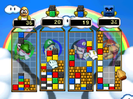 Screenshot of Mario's Puzzle Party.