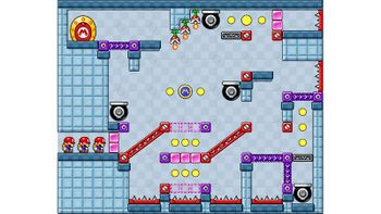 Miiverse screenshot of the 81st official level in the online community of Mario vs. Donkey Kong: Tipping Stars