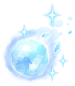 Artwork of an Ice Ball from New Super Mario Bros. U.