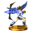 Pit trophy from Super Smash Bros. for Wii U