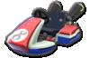 Mario, Baby Mario, and red Mii's Standard Kart body from Mario Kart 8