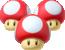 A Triple Mushroom in Mario Kart 8