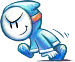 Artwork of a Bandit, from Yoshi's New Island.