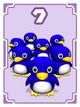 Penguin horde card in Cardiators from Mario Party 8