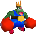 King K. Rool during the final battle in Donkey Kong 64