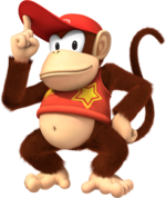 Artwork of Diddy Kong from Mario & Sonic at the Rio 2016 Olympic Games (also used in Super Mario Party)