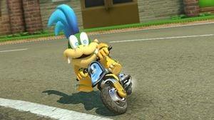 Larry Koopa, drifting on his Standard Bike.