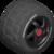 The BigR_BlackBlack tires from Mario Kart Tour