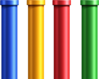 New Super Mario Bros. Wii art: 4 Color Warp Pipes