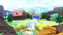 Mario and Olivia inside Diamond Island in Paper Mario: The Origami King