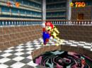 Mario leaving the portal to Hazy Maze Cave