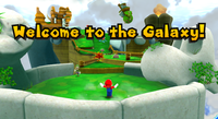 Mario in the Yoshi Star Galaxy