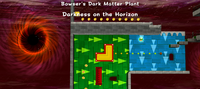 The gravity section in Bowser's Dark Matter Plant