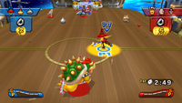 3-on-3 Hockey match on the Star Ship in Mario Sports Mix
