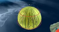 A watermelon planet