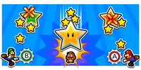 Illustration of the Falling Star Special Attack from Mario & Luigi: Bowser's Inside Story + Bowser Jr.'s Journey