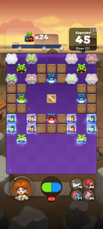 Stage 231 from Dr. Mario World