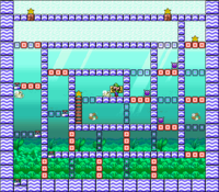 Level 6-9 map in the game Mario & Wario.