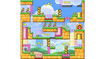 Miiverse screenshot of the 73rd official level in the online community of Mario vs. Donkey Kong: Tipping Stars