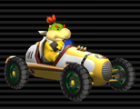 Bowser Jr.'s Classic Dragster from Mario Kart Wii