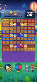 Stage 646 from Dr. Mario World