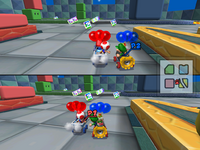 An image of the weight error that the Goo-Goo Buggy has in Battle Mode.