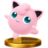 The image for the Wii U version of the trophy of Jigglypuff
