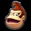 Donkey Kong's head icon in Mario Kart 8