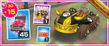 The Gilded King Pack from the 1st Anniversary Tour in Mario Kart Tour
