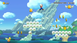 """A screenshot of Coo! (""""Memorable Course"""" Edit) from Super Mario Maker"""