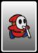 A Red Slurp Guycard from Paper Mario: Color Splash