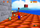 Mario on Mushroom Castle