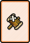 A Worn-Out Hammer Card in Paper Mario: Color Splash.