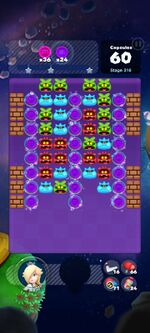 Stage 316 from Dr. Mario World since version 2.1.0