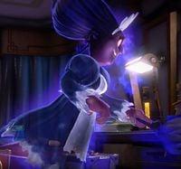 Chambrea dusting in Room 506 in Luigi's Mansion 3