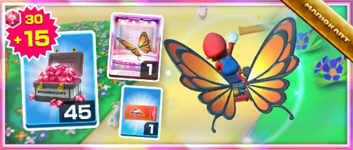 The Butterfly Sunset Pack from the Flower Tour in Mario Kart Tour