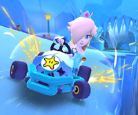 The icon of the Bowser Jr. Cup challenge from the Snow Tour in Mario Kart Tour