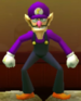 Waluigi as viewed in the Character Museum from Mario Party: Star Rush