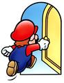 Mario entering door SMA artwork.png