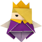 An origami King Olly from Paper Mario: The Origami King.