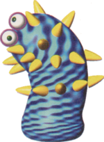 Official Artwork of a sea cactus from Yoshi's Story.