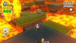 Simmering Lava Lake from Super Mario 3D World.