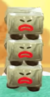 A stack of Dark Melcaras from Yoshi's Crafted World