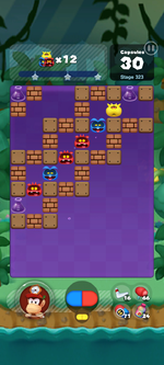Stage 323 from Dr. Mario World